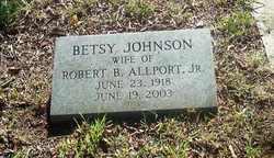 Betsy Jean <I>Johnson</I> Allport