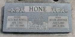 Alta Mae <I>Newell</I> Hone