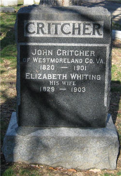 Elizabeth Thomasia <I>Whiting</I> Critcher