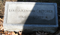 """Louisa Kennon """"Lulie"""" Critcher"""