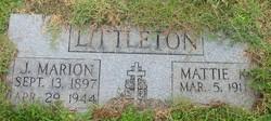 Mattie Bell <I>Kimbrell</I> Littleton