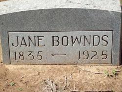 Jane <I>Thomas</I> Bownds