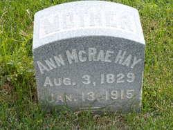 Ann <I>McRae</I> Hay