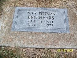 Ruby Belle <I>Pittman</I> Breshears