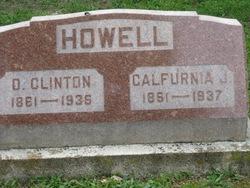 Califurnia J <I>Buford</I> Howell