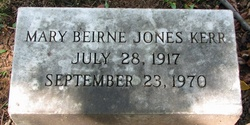 Mary Beirne <I>Jones</I> Kerr