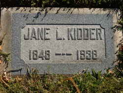 "Jane E. ""Jennie"" <I>Latey</I> Kidder"