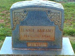 "Tennessee C ""Tennie"" <I>Pike</I> Abrams"