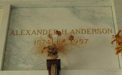 """Alexander Harold """"Harry"""" Anderson, Sr"""