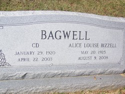 Alice Louise <I>Bizzell</I> Bagwell