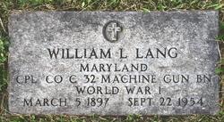 William L Lang