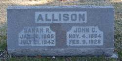 Sarah Rebecca <I>Clevenger</I> Allison