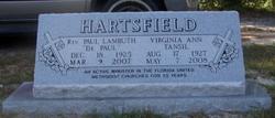 Virginia Ann <I>Tansil</I> Hartsfield