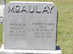 Harriet Caroline <I>Parks</I> McAulay