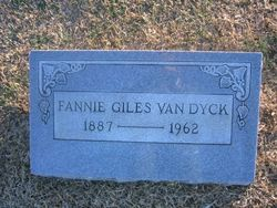 Fannie Fisher <I>Giles</I> Vandyck