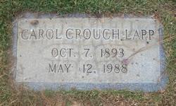Carol <I>Crouch</I> Lapp