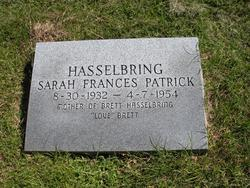 Sarah Frances <I>Patrick</I> Hasselbring