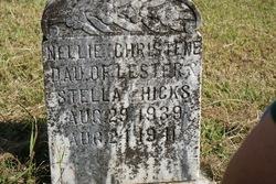 "Nellie Christene ""Christie"" Hicks"