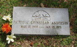 Patricia <I>Grinstead</I> Anderson