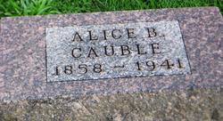 Alice B <I>Wingler</I> Cauble
