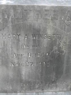 Mary A <I>Winsett</I> Derden