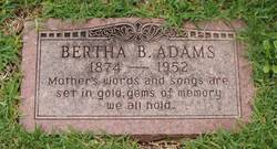 Bertha Belle <I>Williamson</I> Adams