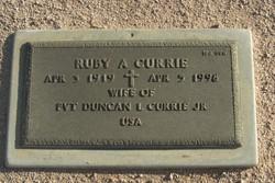 Ruby Lee <I>Attaway</I> Currie