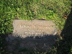 """Elbert Ray """"Brownie"""" Brown"""