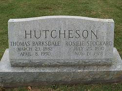 Rosilie <I>Stockard</I> Hutcheson