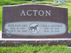 Viola <I>George</I> Acton