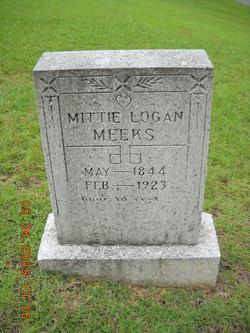 """Matilda """"Mittie"""" <I>Logan</I> Meeks"""