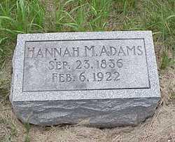 Hannah M Adams