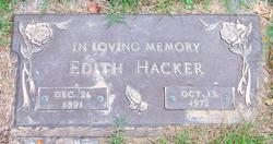 Edith <I>Raines</I> Hacker
