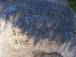 Anna J <I>Sharon</I> Cahill
