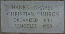 Hanks Chapel Christian Church Cemetery