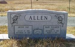 Mary Elizabeth <I>Eaker</I> Allen