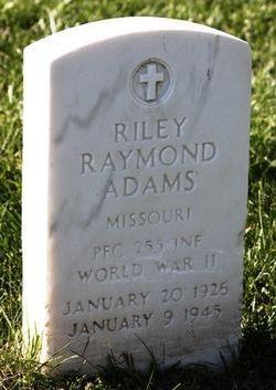 PFC Riley Raymond Adams