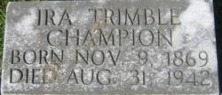 Ira Trimble Champion
