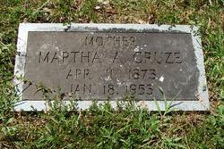 "Martha Adeline ""Mat"" <I>McCammon</I> Cruze"
