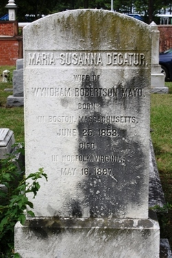 Maria Susanna <I>Decatur</I> Mayo