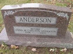 Anna M. <I>Carlson</I> Anderson