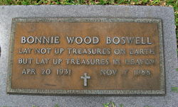 Bonnie Faye <I>Wood</I> Boswell