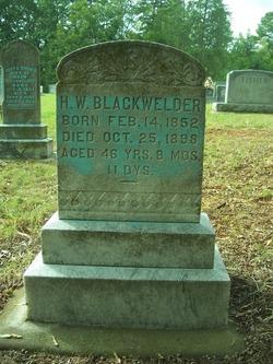Harvey Wilson Blackwelder