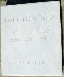 Mary Ella <I>Moore</I> Booe