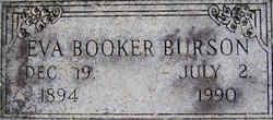 Eva <I>Booker</I> Burson