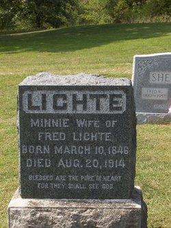"""Wilhelmina Cordelia """"Minnie"""" <I>Meyer</I> Lichte"""