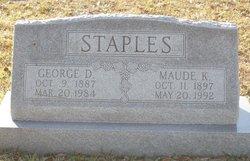 Maude <I>Kennedy</I> Staples