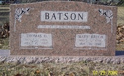 Mary <I>Baugh</I> Batson