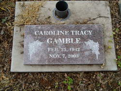 Caroline <I>Tracy</I> Gamble
