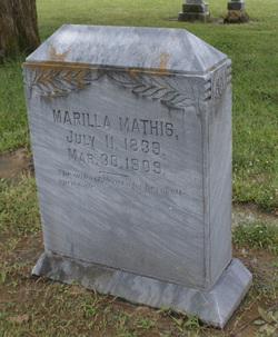 "Ann Marilla ""Rilla"" <I>Howell</I> Mathis"